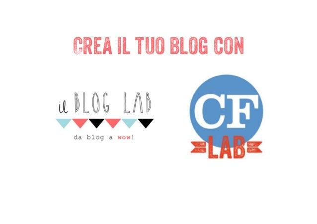 Crea il tuo blog con