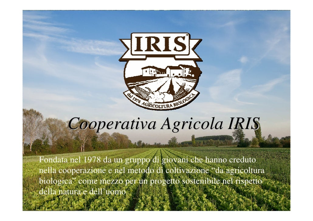 Presentazione Iris Cooperativa Agricola - Maurizio Gritta