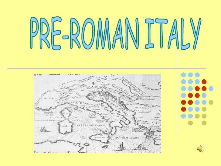 Presentazione italia preromana