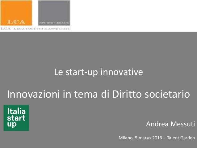 """Italia startup - """"Gli aspetti legali ed il crowfunding I"""""""