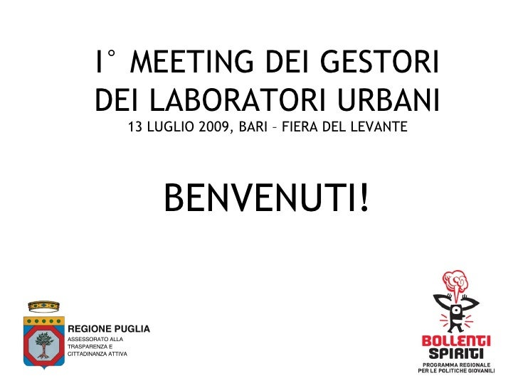 Primo Meeting dei gestori di Laboratori Urbani