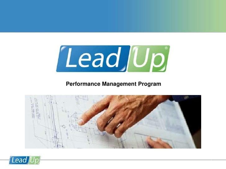 Performance Management Program <br />1<br />