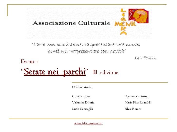 """Organizzato da: Camilla  Comi Alessandra Garino Valentina Ditoria   Maria Pilar Rainoldi Lucia Garavaglia   Silvia Romeo """"..."""