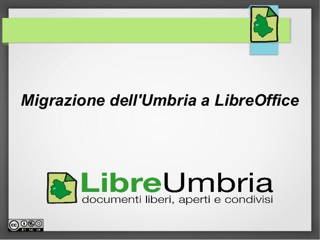 Presentazione progetto LibreUmbria