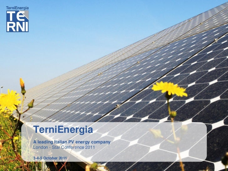 TerniEnergia Star Conference London 2011