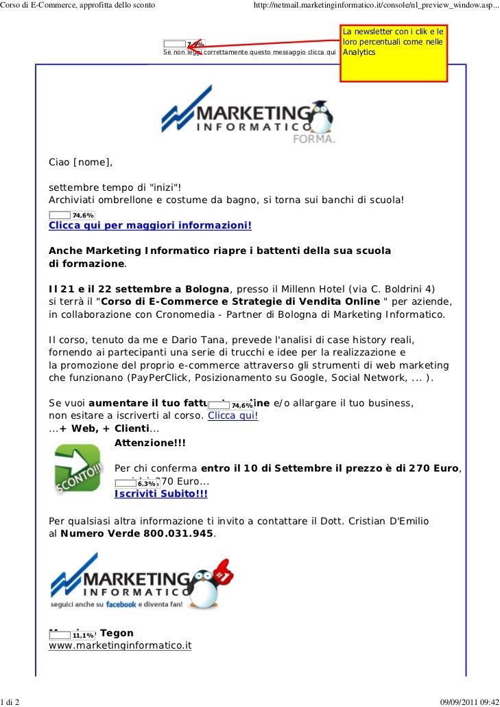 Corso di E-Commerce, approfitta dello sconto                               http://netmail.marketinginformatico.it/console/...