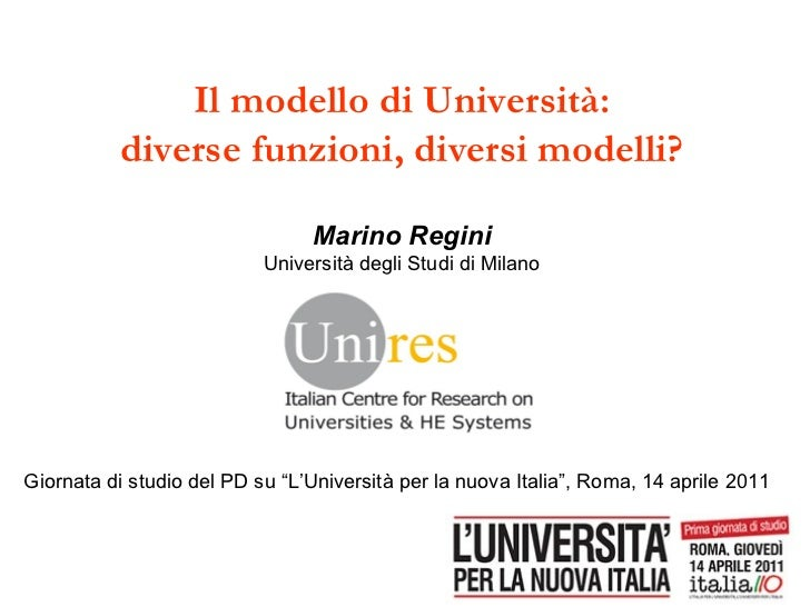 Presentazione di Marino Regini - Roma, 14/04/2011