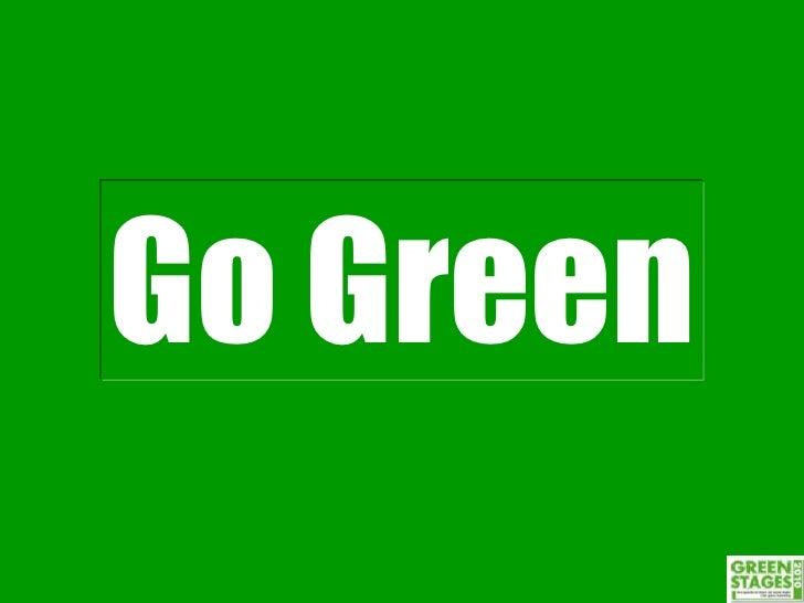 Go Green: il mondo sta cambiando di Diego Masi