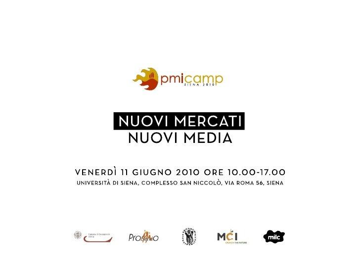 Giornalismo 2.0: Presentazione i social network per la comunicazione tra imprese e tra consumatori pmicamp