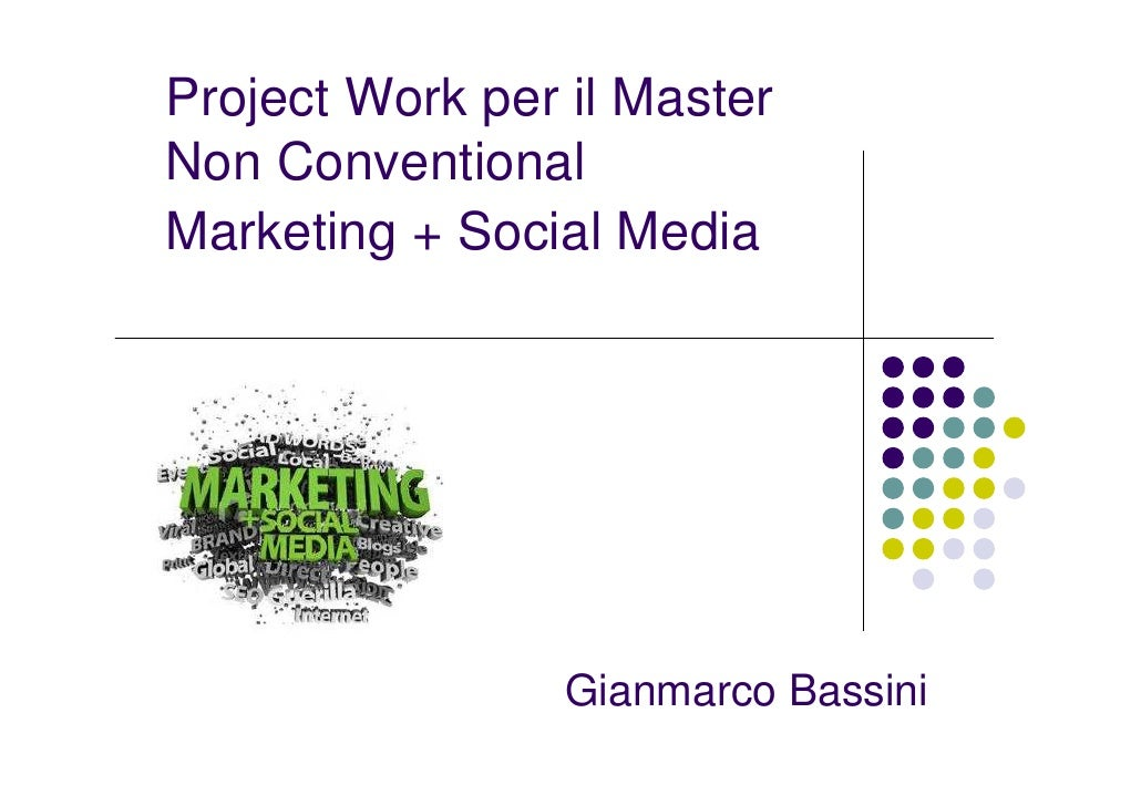 Master in Non Conventional Marketing e Social Media Marketing