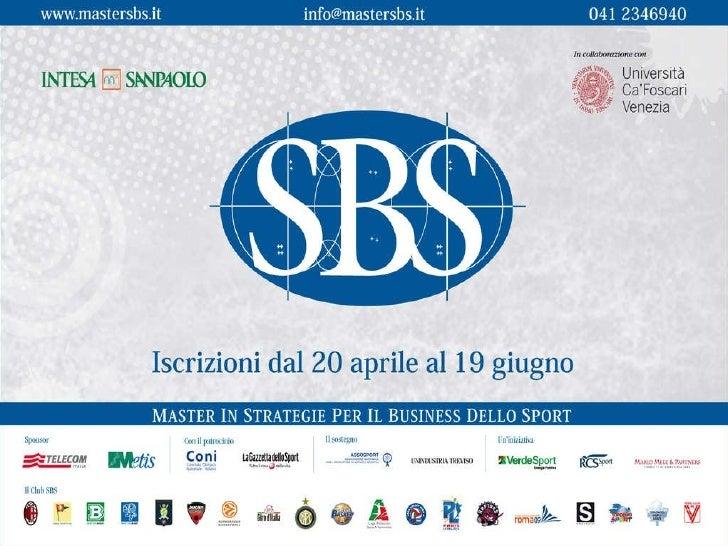 Presentazione Master Sbs V Edizione