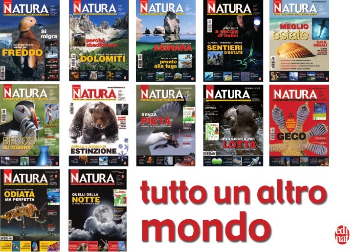 N ATURA                                                              rivistanatura.it             LA RIVISTA DELLA        ...