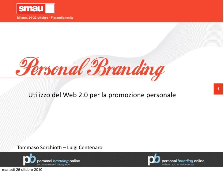Personal Branding - Smau 2010