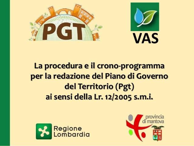 Presentazione procedura PGT
