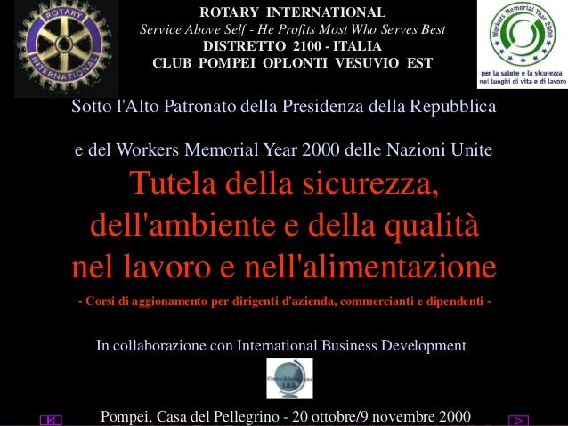 Raimondo Villano-Presentazione programma Rotary safety at work