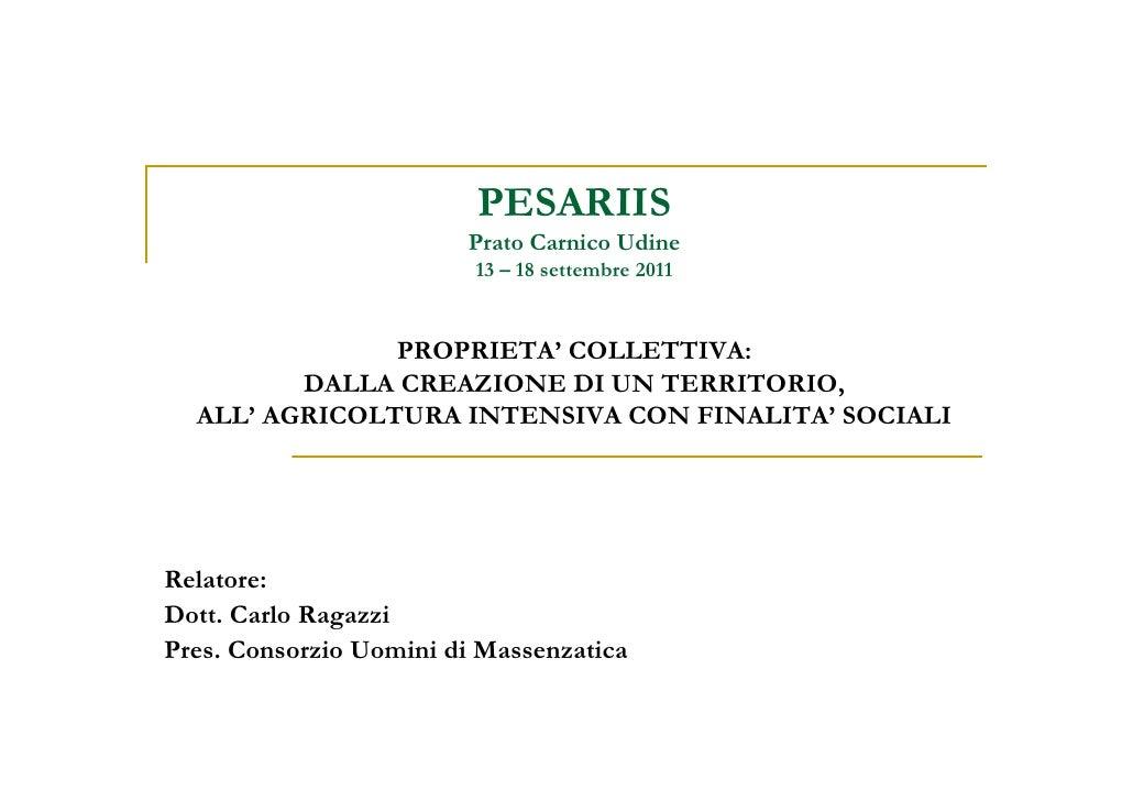 Presentazione CUM - Carlo Ragazzi