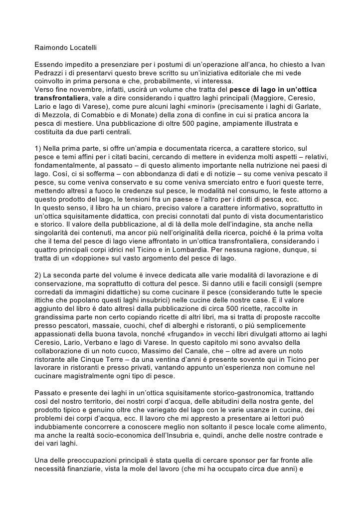 Forum Lago Maggiore 23.09.2011, Raimondo Locatelli