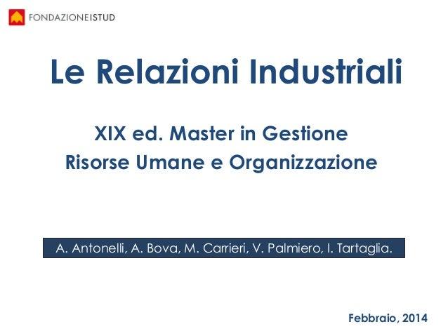 Relazioni Industriali
