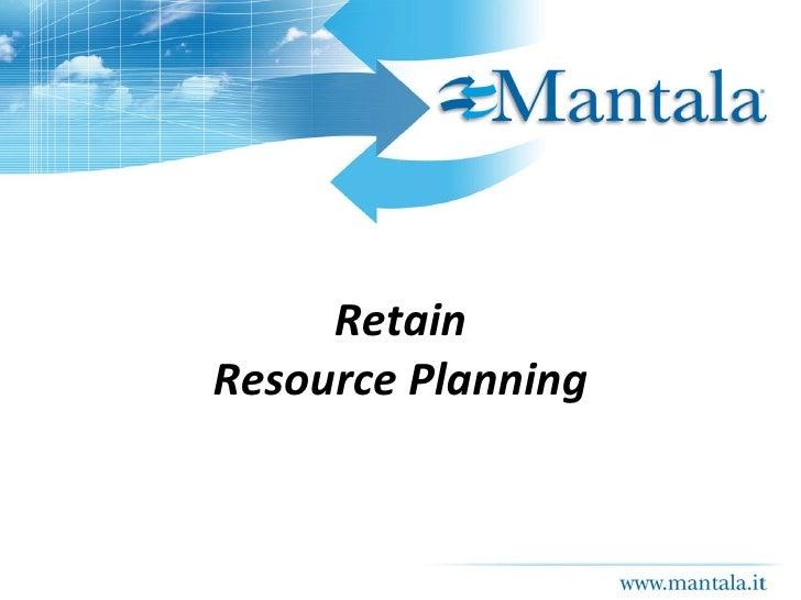 Presentazione Retain Resource Planning e Time