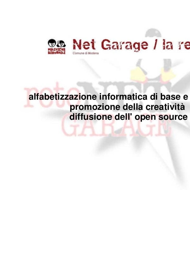 Presentazione Rete Net Garage
