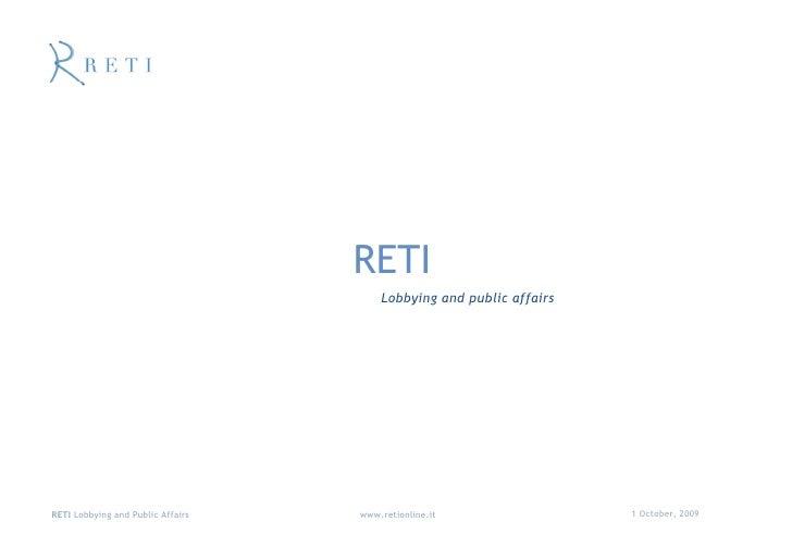 Reti Lobbying and Public Affairs in Italy