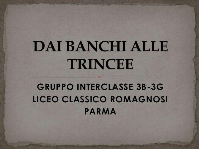 GRUPPO INTERCLASSE 3B-3G LICEO CLASSICO ROMAGNOSI PARMA