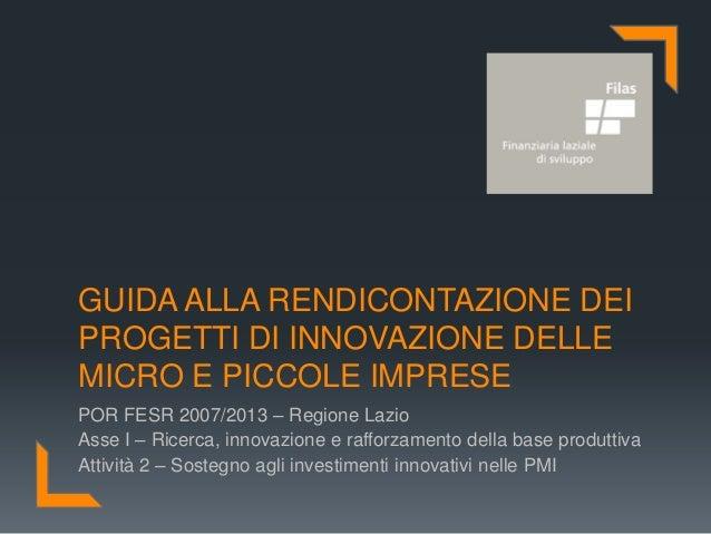 Presentazione ROL Microinnovazione