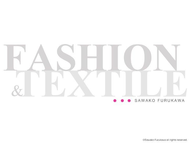 SAWAKO FURUKAWA – Fashion designer