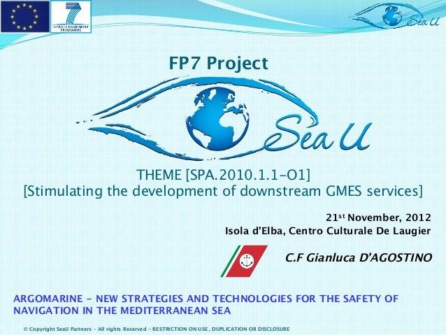 ARGOMARINE Final Conference - SeaU presentation - C.F. Gianluca D'Agostino
