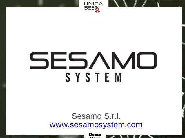 www.sesamosystem.com Sesamo S.r.l.