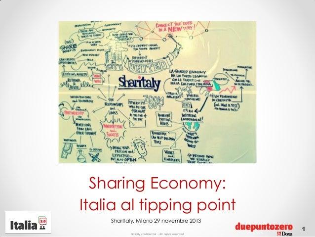 Sharing Economy: Italia al tipping point