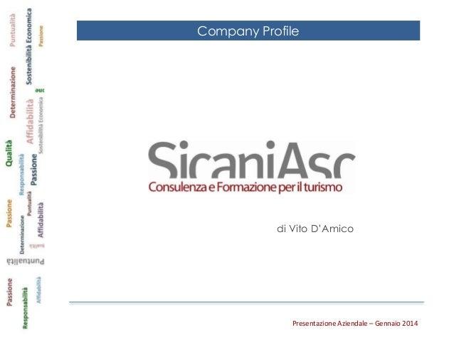 Presentazione Aziendale Sicaniasc 2014