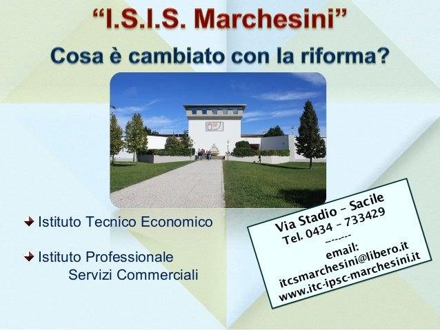 Istituto Tecnico Economico  e acil S io – 33429 Stad 4 – 7 Via 043 Tel.  Istituto Professionale Servizi Commerciali  -- - ...