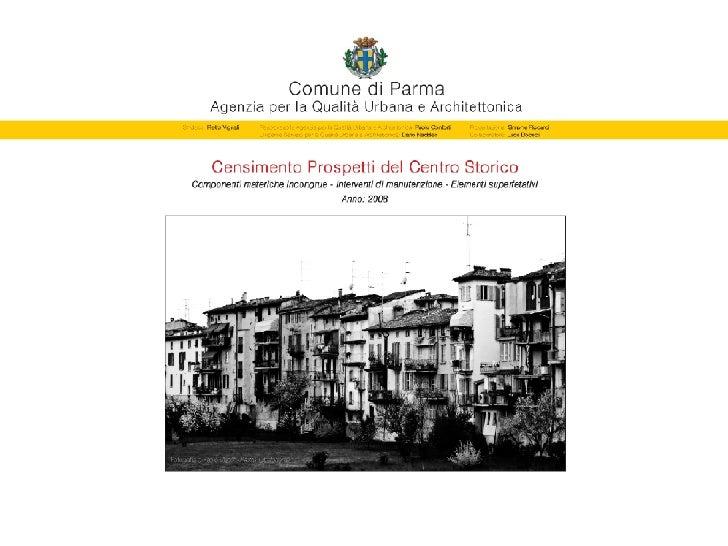 Censimento Prospetti del Centro Storico di Parma