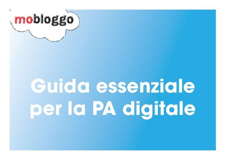 Guida per la Pubblica Amministrazione digitale