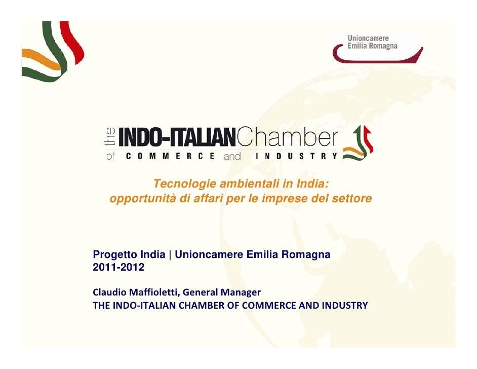 s         Tecnologie ambientali in India:  opportunità di affari per le imprese del settoreProgetto India | Unioncamere Em...