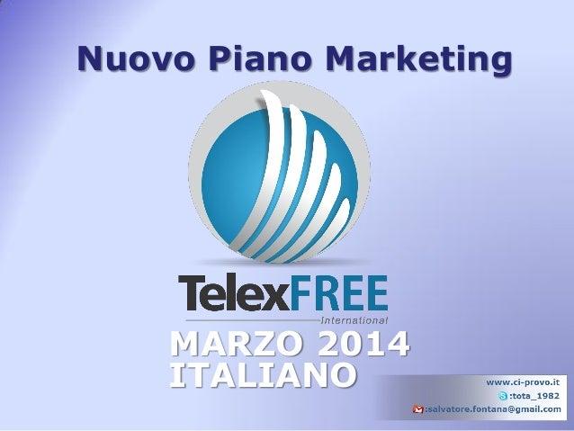 Nuovo Piano Marketing MARZO 2014 ITALIANO