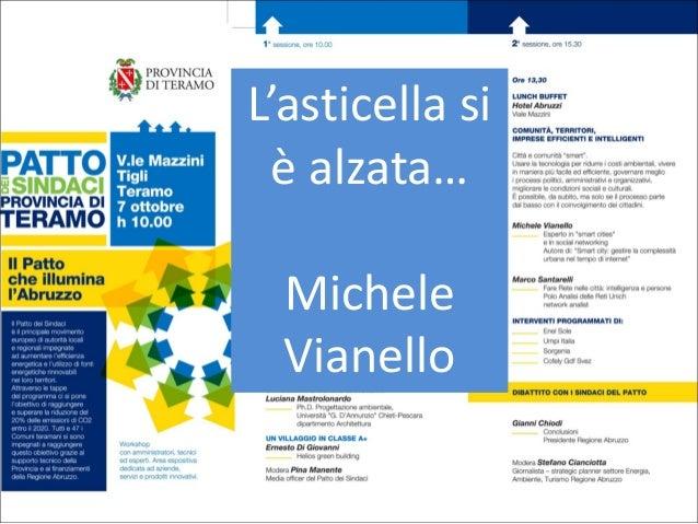 Il Patto che illumina l'Abruzzo - Michele Vianello - Smart City