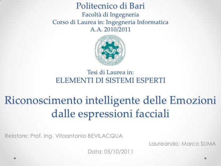 Politecnico di Bari                           Facoltà di Ingegneria                 Corso di Laurea in: Ingegneria Informa...