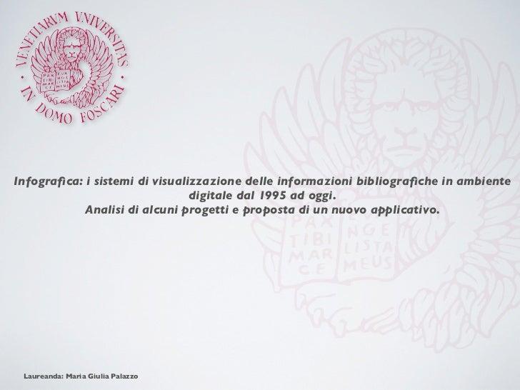 Infografica: i sistemi di visualizzazione delle informazioni bibliografiche in ambiente                                digit...