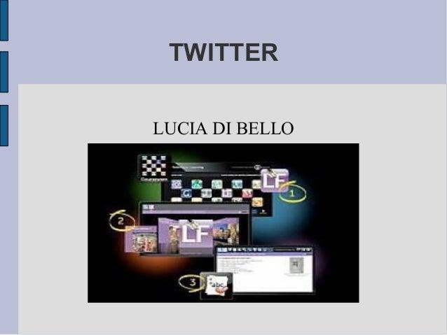 TWITTER LUCIA DI BELLO
