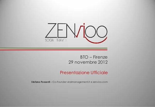 BTO – Firenze                              29 novembre 2012                       Presentazione UfficialeStefano Possenti ...