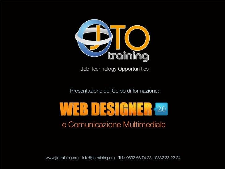 Corso di formazione Web Designer 2.0 e Comunicazione Multimendiale