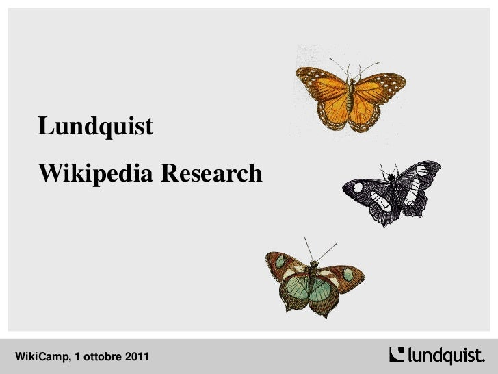 Lundquist Wikipedia Research Italy 2010-2011