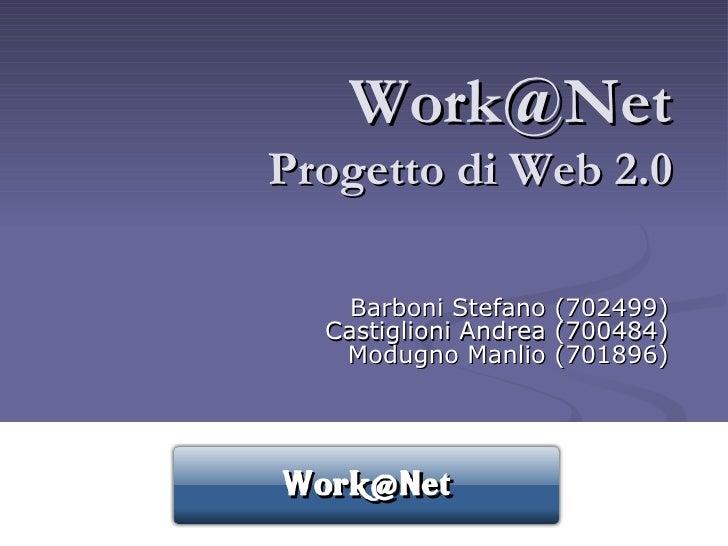 [email_address] Progetto di Web 2.0 Barboni Stefano (702499) Castiglioni Andrea (700484) Modugno Manlio (701896)