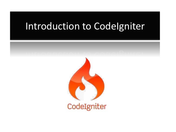 Introduction to CodeIgniter
