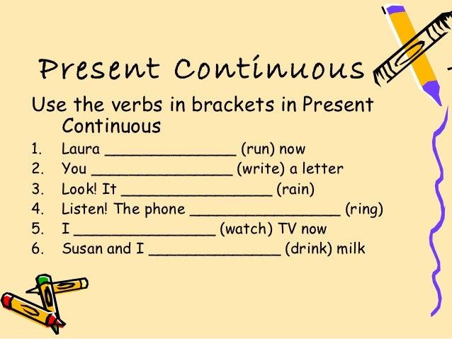 Present continuous explicaciu00f3n y ejercicios