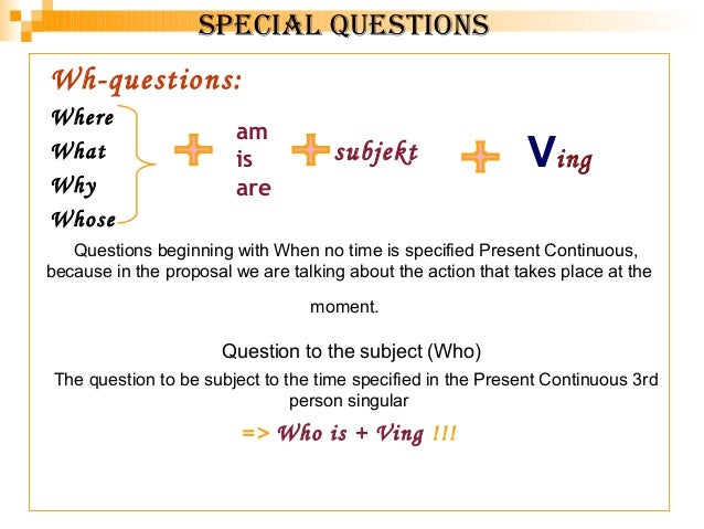 Wh questions present simple and present continuous exercises pdf ...
