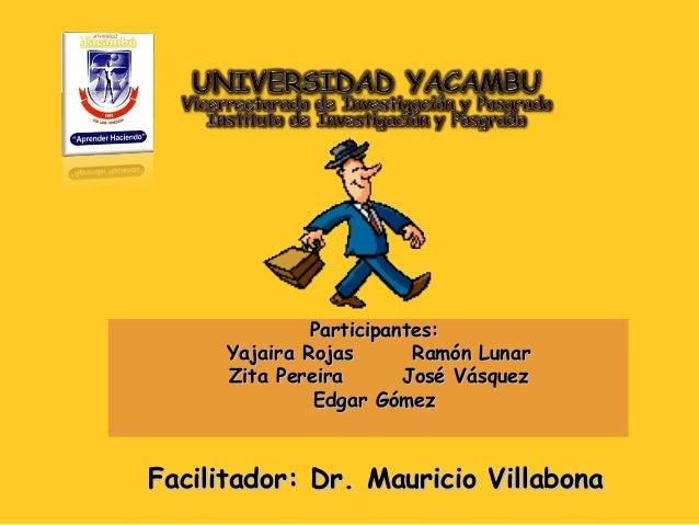 Participantes:Participantes: Yajaira Rojas Ramón LunarYajaira Rojas Ramón Lunar Zita Pereira José VásquezZita Pereira José...