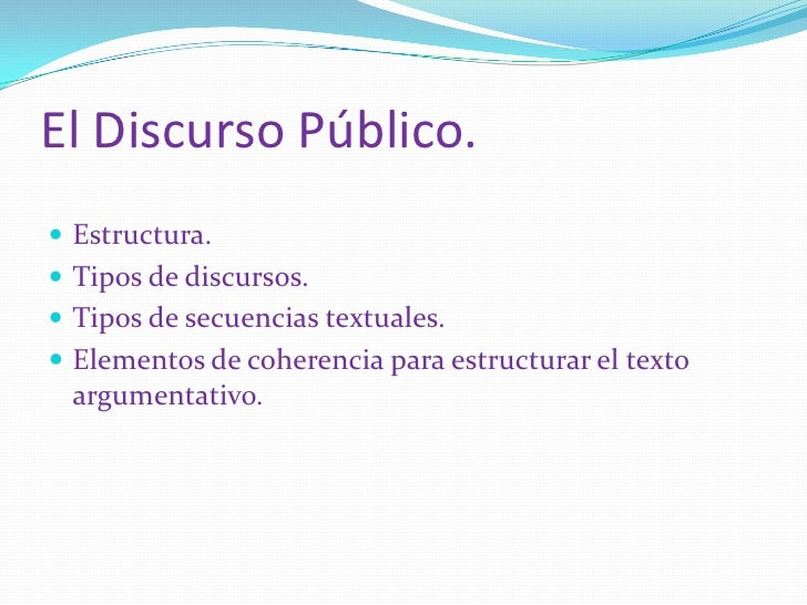 Present  discurso público